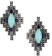 Topshop Textured bling stone earrings