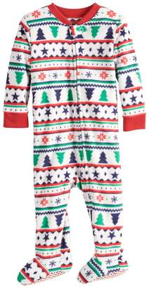 86dccb00cd Baby Infant Jammies For Your Families Fairisle Blanket Sleeper Microfleece  One-Piece Pajamas