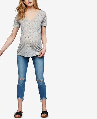 A Pea in the Pod Paige Denim Maternity Distressed Skinny Jeans