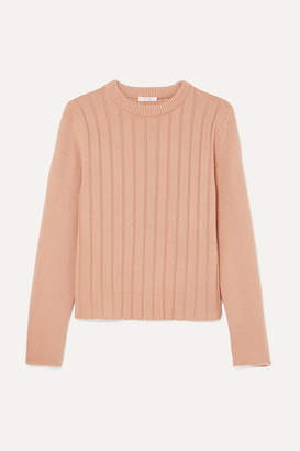 Chloé Ribbed Cashmere Sweater - Peach