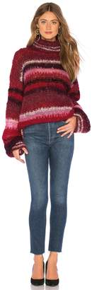 One Clothing Mohair Striped Sweater