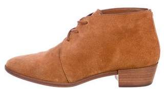 MICHAEL Michael Kors Suede Round-Toe Ankle Boots