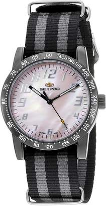 Seapro Women's SP5211NBK Casual Bold Watch, Mother of Pearl