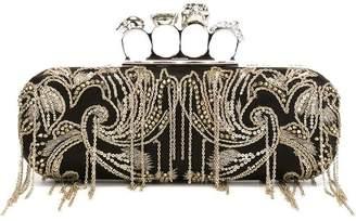 Alexander McQueen 'Knuckle' long heraldic chain clutch