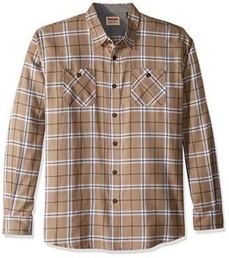 Wrangler Authentics Men's Tall Size Long-Sleeve Flannel Shirt