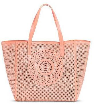 Merona; Women's Faux Leather Perforated Medallion Tote Handbag- Merona; $39.99 thestylecure.com