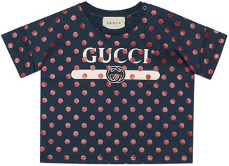 Gucci Baby polka dot print T-shirt