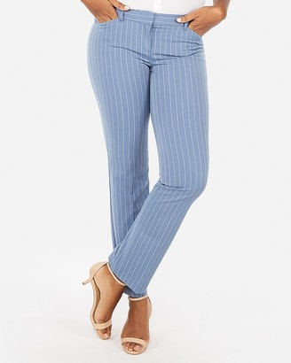 Express Low Rise Stripe Barely Boot Editor Pant
