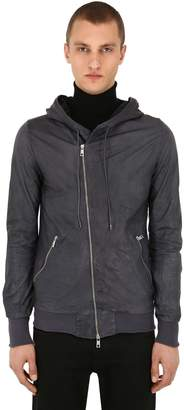 Giorgio Brato Hooded Zip-Up Leather Jacket