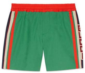 Gucci Children's bermuda short with stripe