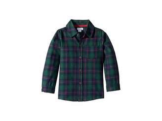 Mud Pie Blackwatch Plaid Button Down Long Sleeve Shirt (Infant/Toddler)