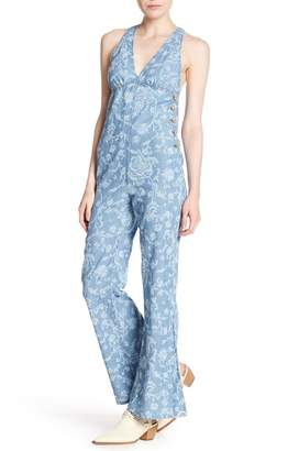 Free People Dance All Night Patterned Jumpsuit