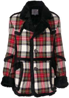 R 13 plaid jacket