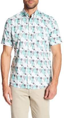 Kennington Retro Circle Short Sleeve Slim Fit Shirt