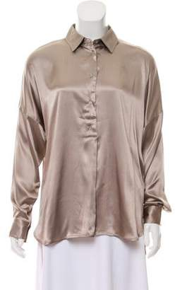 0039 Italy Silk High-Low Top w/ Tags