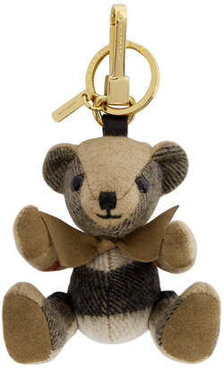 Burberry Tan Thomas Check Keychain