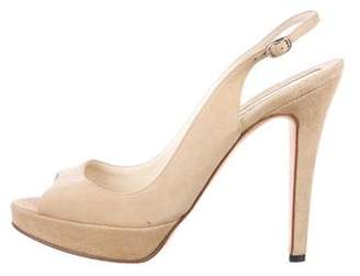 Brian Atwood Platform Suede Sandals