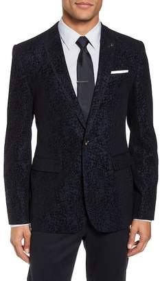 Ted Baker Sherman Trim Fit Flocked Velvet Dinner Jacket