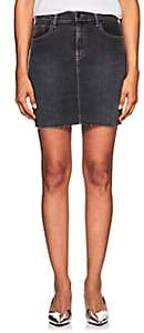 J Brand Women's Lyla Denim Mid-Rise Miniskirt-Black