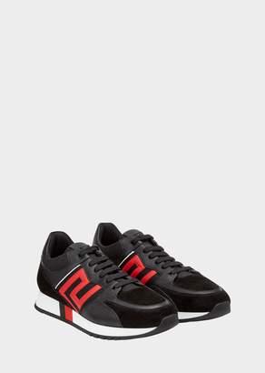 Versace Greek Key Contrast Sneakers