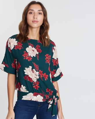 Dorothy Perkins Floral Print Tie Front Tee