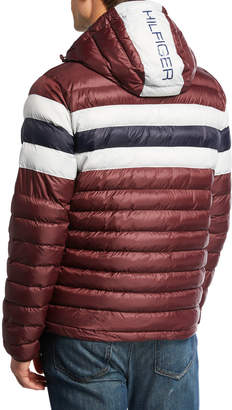 Modern American Designer Men's Hooded Puffer Jacket
