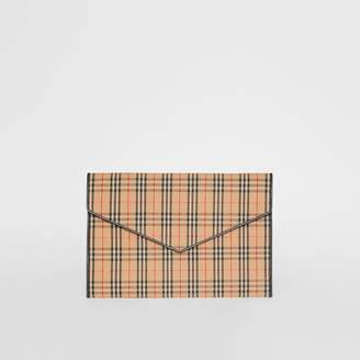 Burberry Large 1983 Check Envelope Pouch, Black