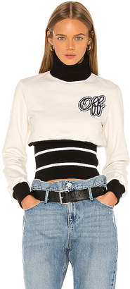 Off-White Cheerleader Ribbed Sweatshirt