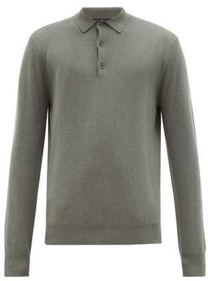 Allude Cashmere Polo Sweater - Mens - Light Green