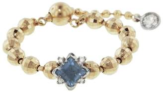 Kataoka Aquamarine Diamond Beaded Ring - Yellow Gold