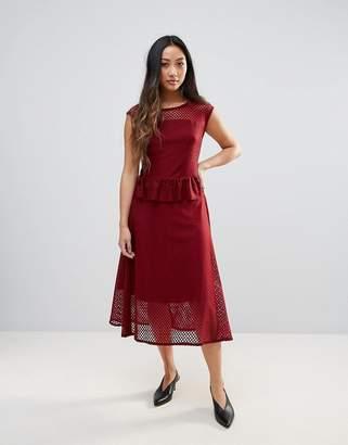 Gestuz Garrie Sheer Midi Dress