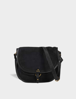 Jerome Dreyfuss Large Felix Bag in Black Double-Sided Goatskin