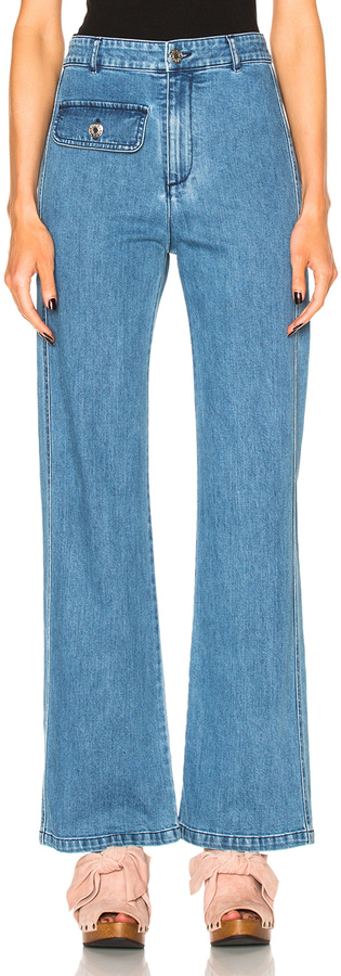 See By Chloe See By Chloe Wide Leg Denim Trousers