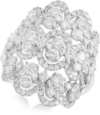Effy Rock Candy by Openwork Diamond Cluster Ring (2-1/3 ct. t.w.) in 14k White Gold