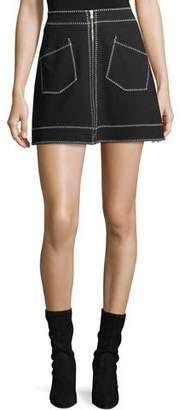 McQ Mini Skirt w/ Contrast Stitching