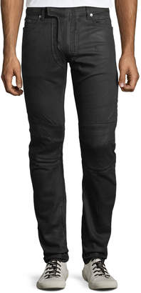 Balmain Men's Waxed Stretch-Denim Jeans