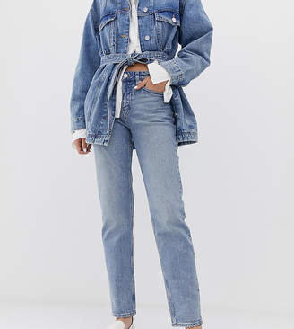 Weekday bon straight leg jean in light blue