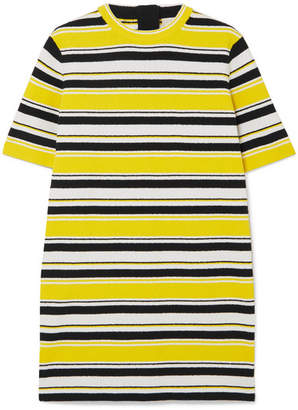 Marc Jacobs Striped Cotton-blend Terry Mini Dress - Yellow
