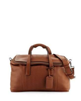Giorgio Armani Calf Leather Weekender Bag