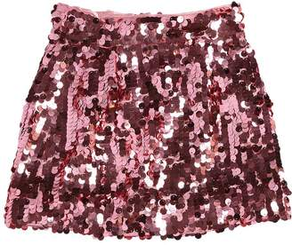 Dolce & Gabbana Sequined Satin Skirt