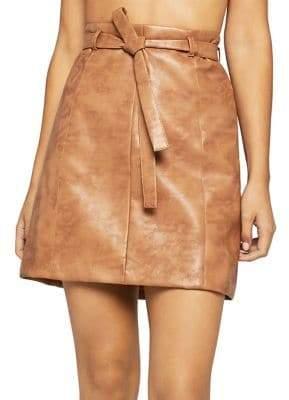 BCBGeneration Faux-Leather Mini Skirt