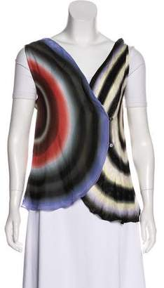 Fendi Silk Digital Print Vest
