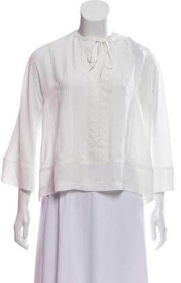 Rebecca Minkoff Embroidered Long Sleeve Blouse w/ Tags