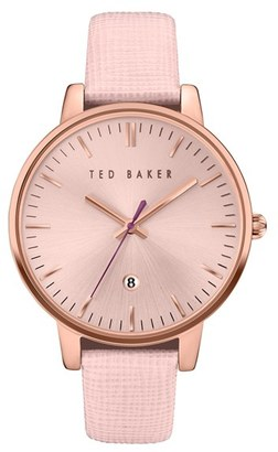 Women's Ted Baker London Leather Strap Watch, 40Mm $155 thestylecure.com