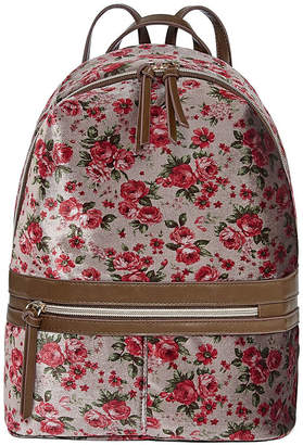 T-Shirt & Jeans Floral Velvet Backpack