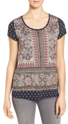 Women's Lucky Brand Painted Border Print Tee $39.50 thestylecure.com