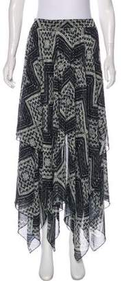Alice + Olivia Printed Maxi Skirt