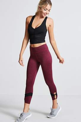 Forever 21 Active Marled Capri Leggings