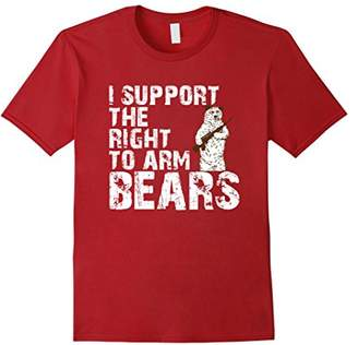 I Support The Right To Arm Bears Funny Gun Love T-Shirt