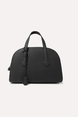 The Row Sporty Bowler 12 Textured-leather Tote - Black
